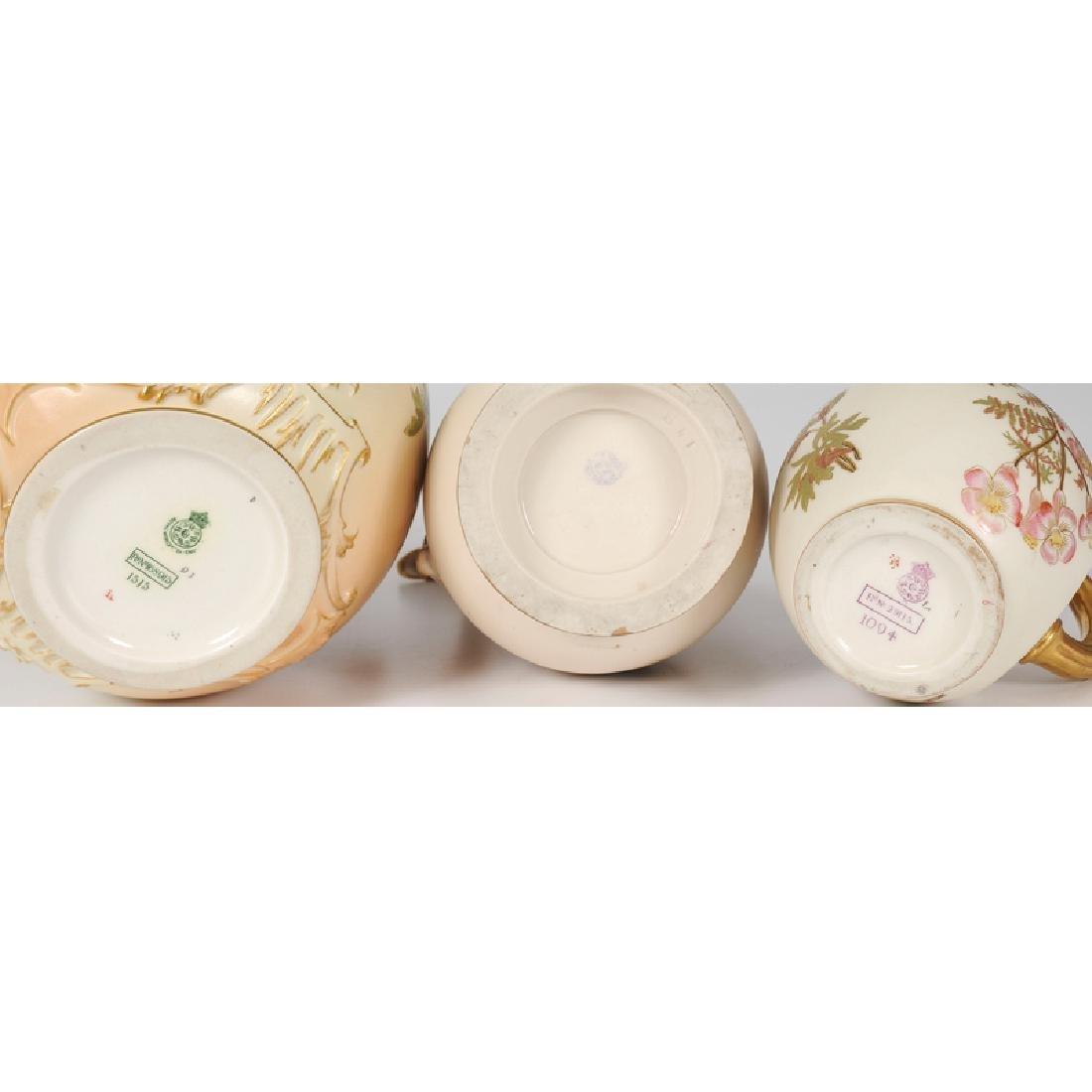 Royal Worcester Lidded Jar and Creamer and Teplitz - 3