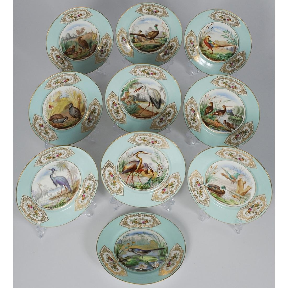 Porcelain Plates with Bird Scenes