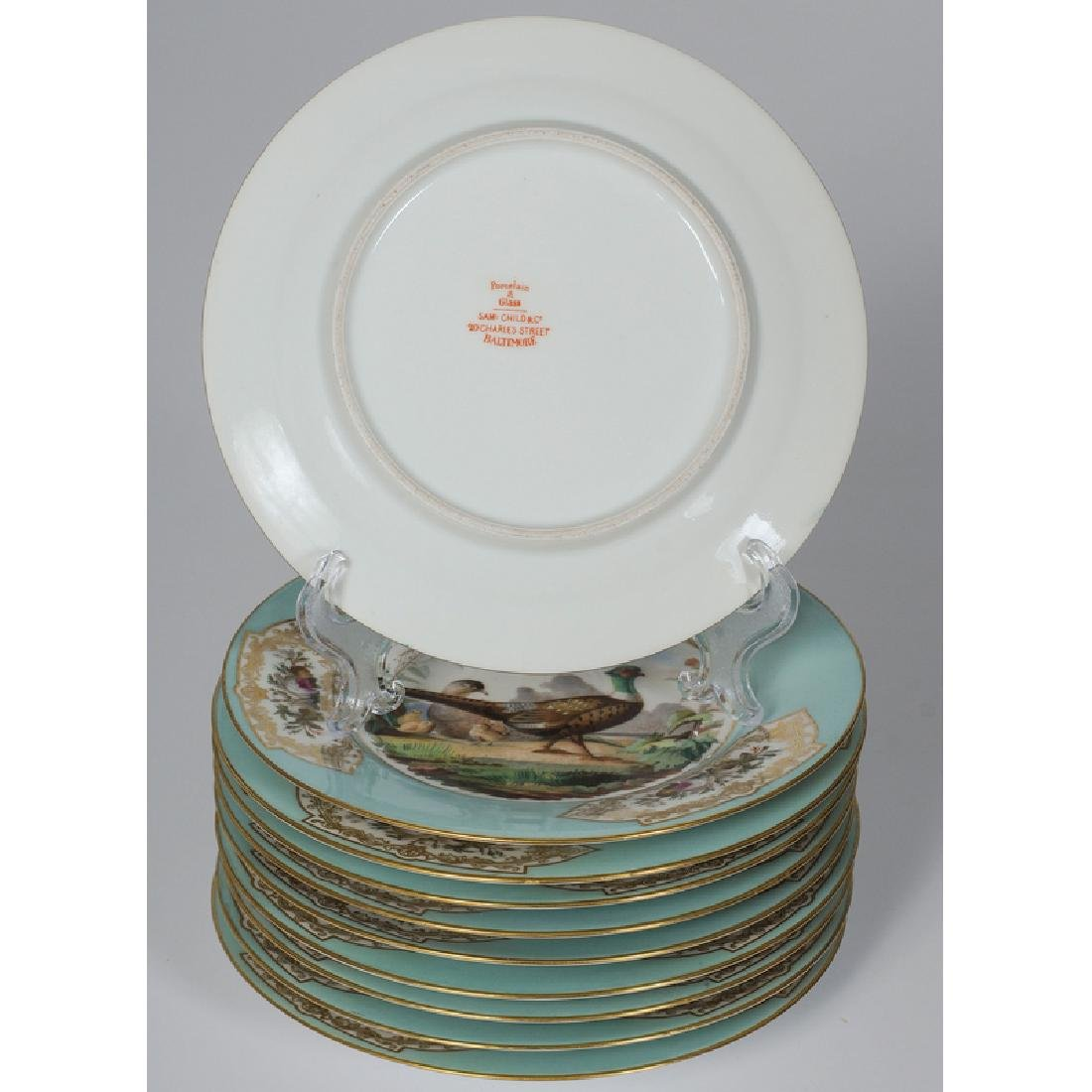 Porcelain Plates with Bird Scenes - 2