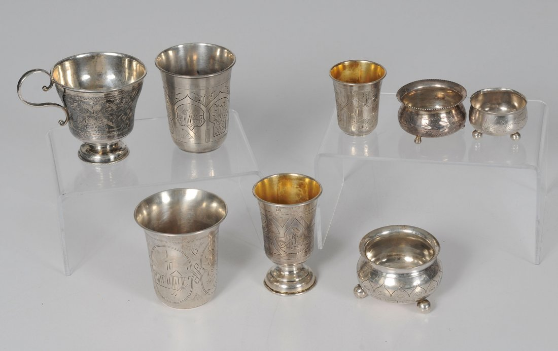 Russian Silver Beakers and Salts