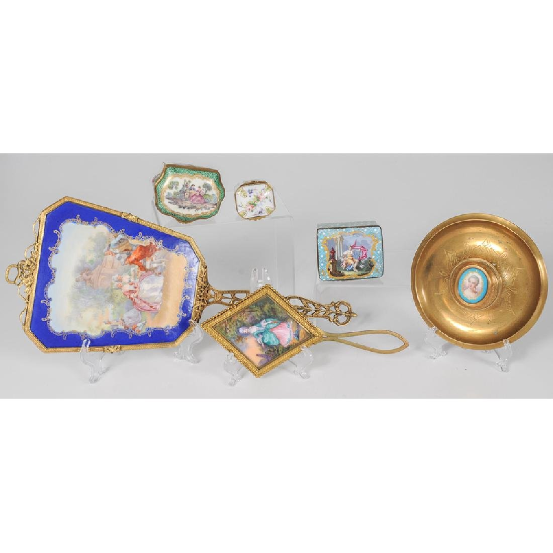 Assortment of French Porcelain and Enamel Ladies - 2