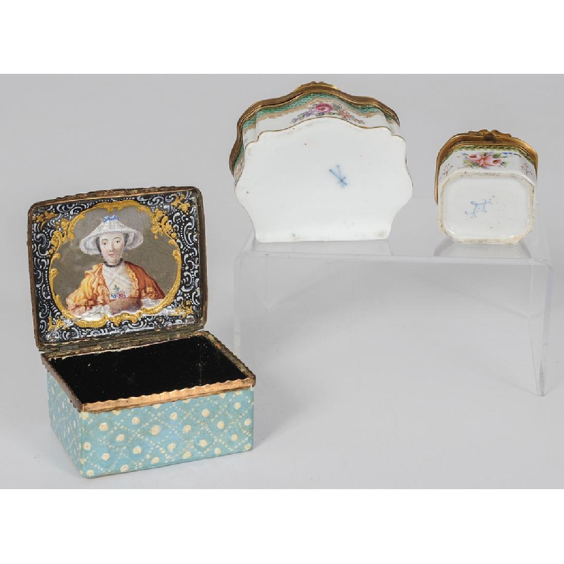 Assortment of French Porcelain and Enamel Ladies - 3