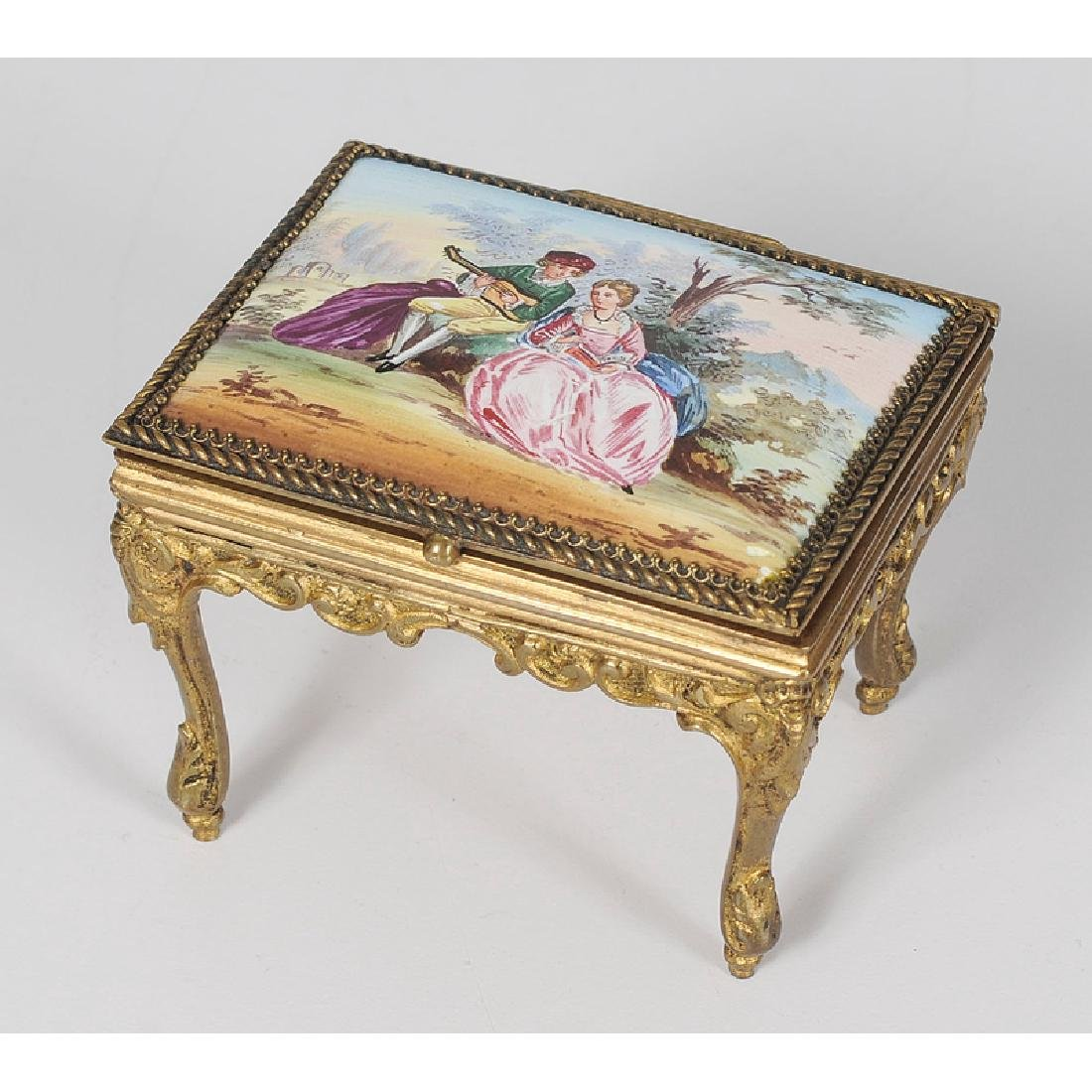 Austrian Accessories Decorated with Enamel Court Scenes - 2