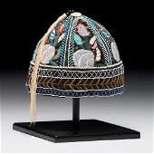 Haudenosaunee Beaded Six-Panel Hat