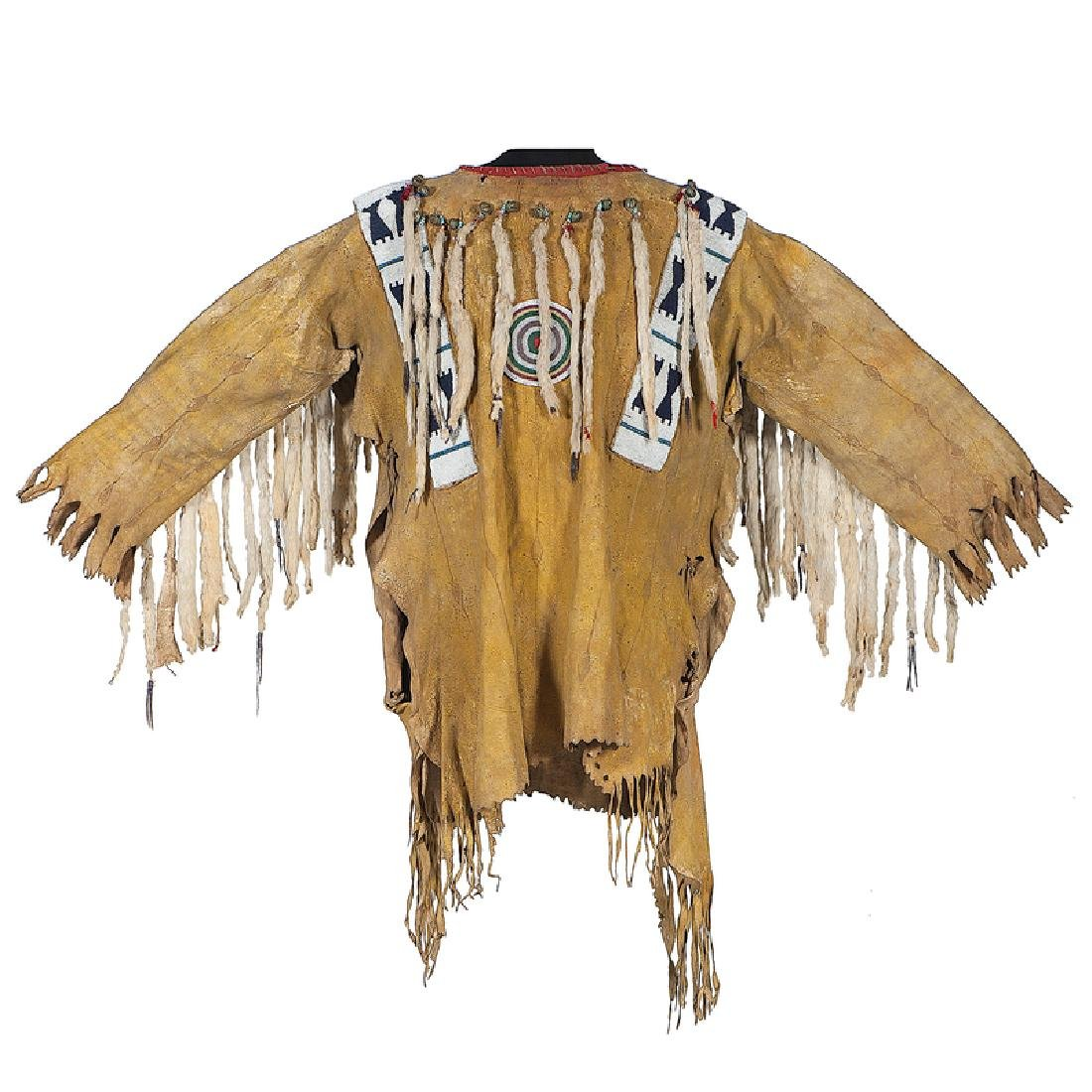 Blackfoot Beaded Hide War Shirt, Collected by John M.