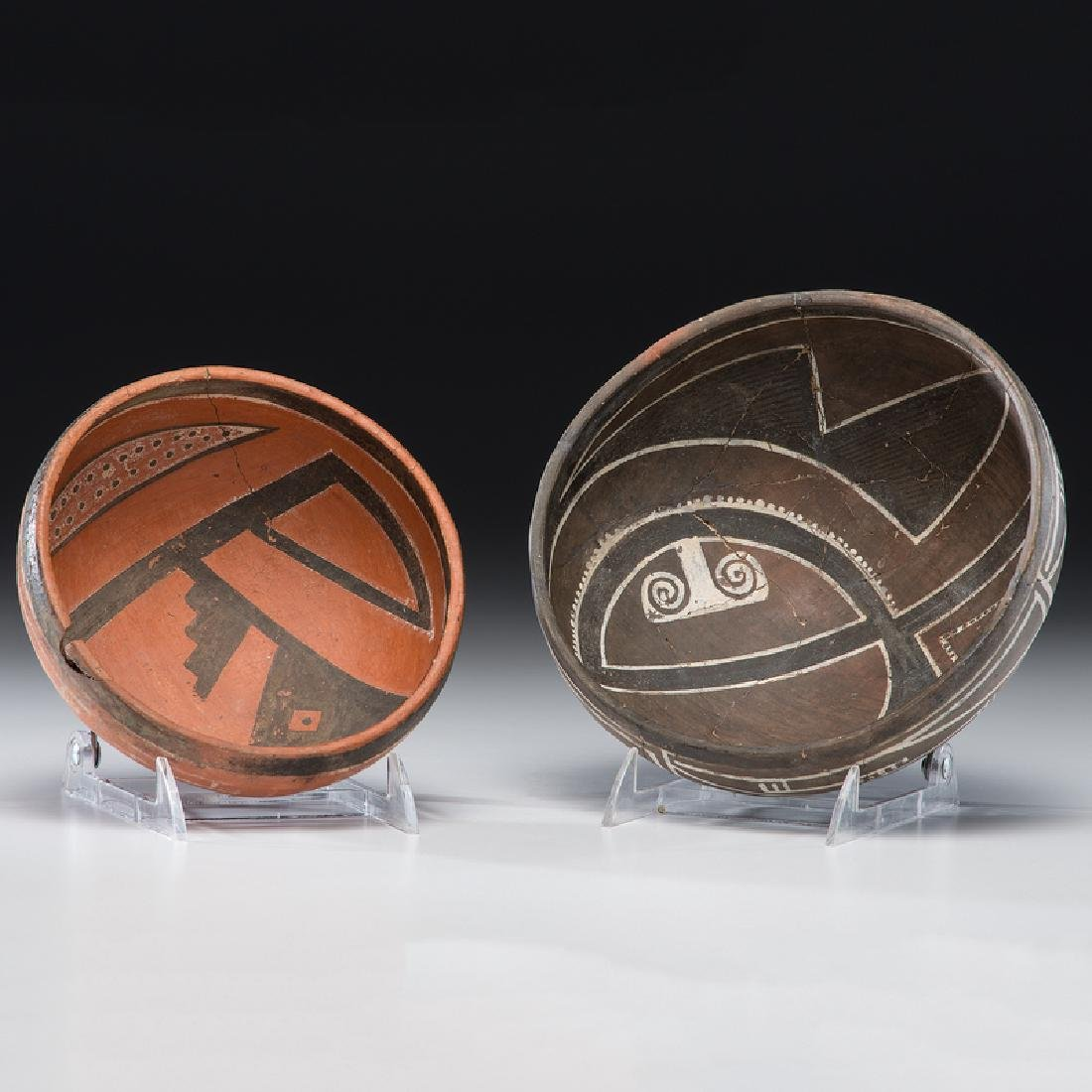 Four Mile Polychrome Pottery Bowls