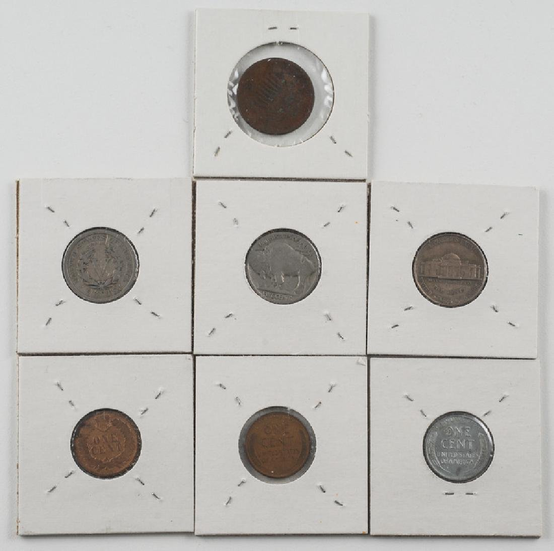 United States Assortment of Five Cent, Two Cent, and - 2