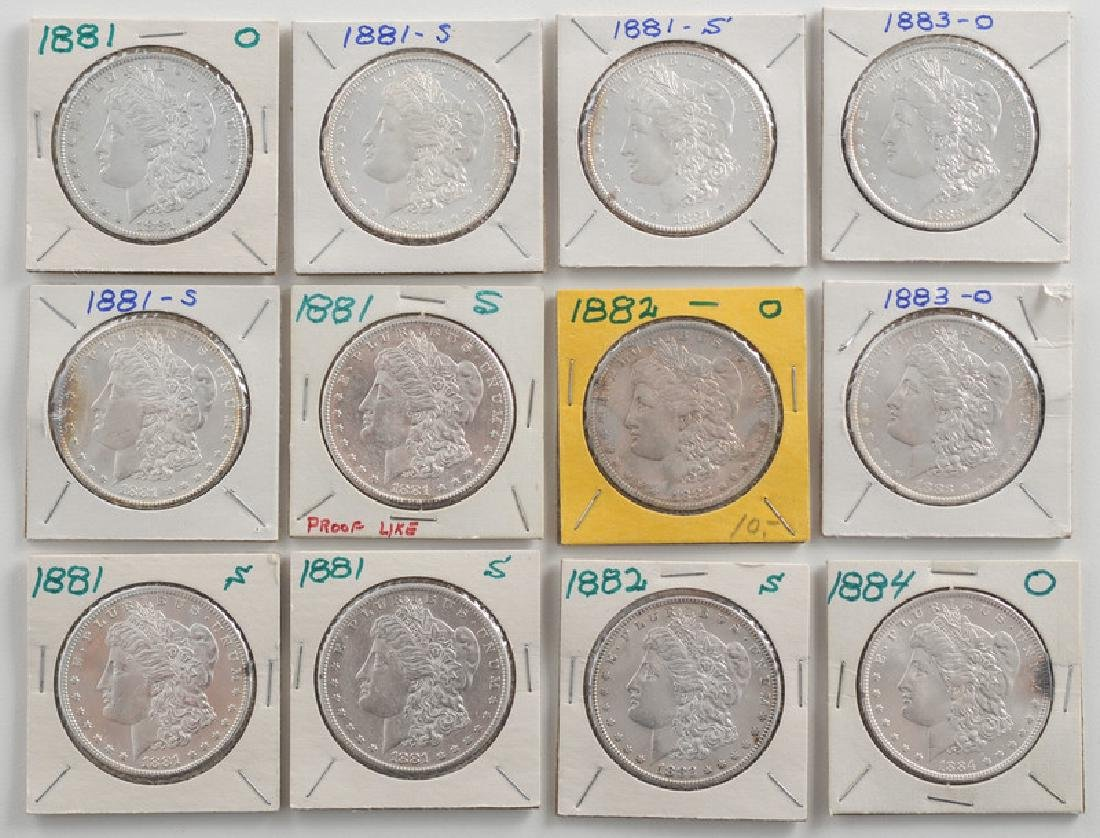 United States Morgan Silver Dollars 1881,1882,1883,1884