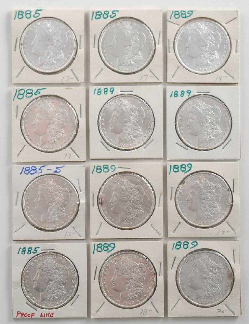 United States Morgan Silver Dollars 1885, 1889