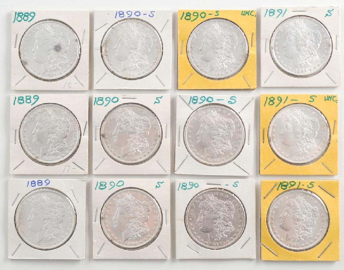 United States Morgan Silver Dollars 1889,1890,1891