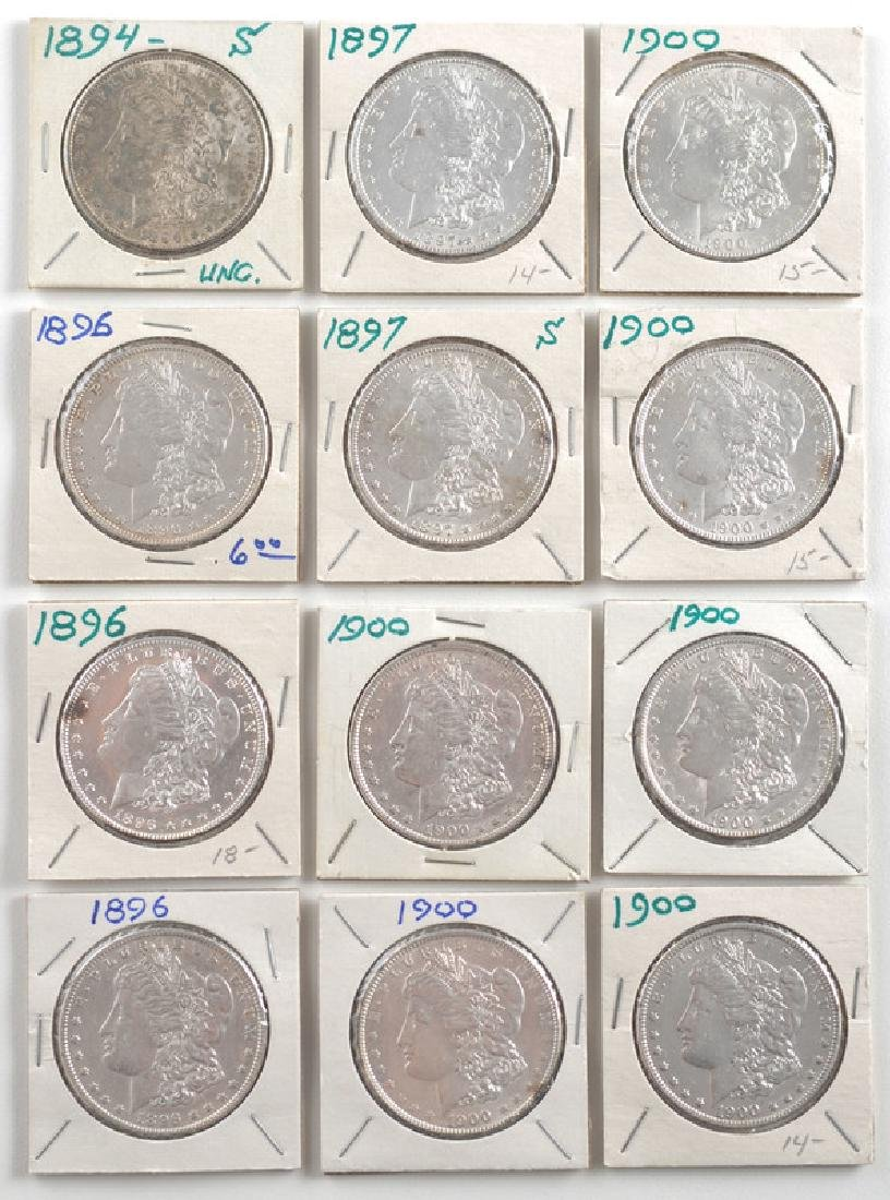 United States Morgan Silver Dollars 1894,1896,1897,1900