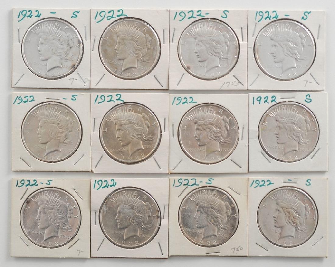 United States Morgan Silver Dollars 1922