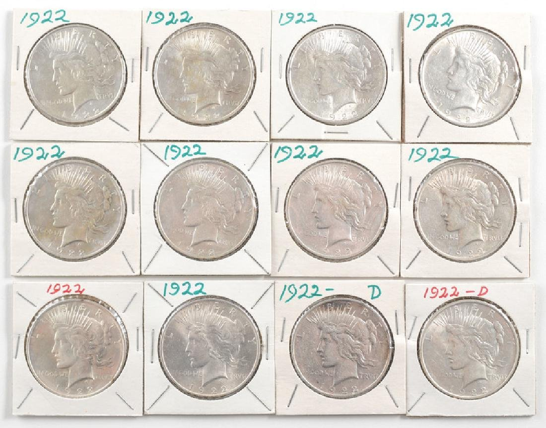 United States Morgan Silver Dollars 1922