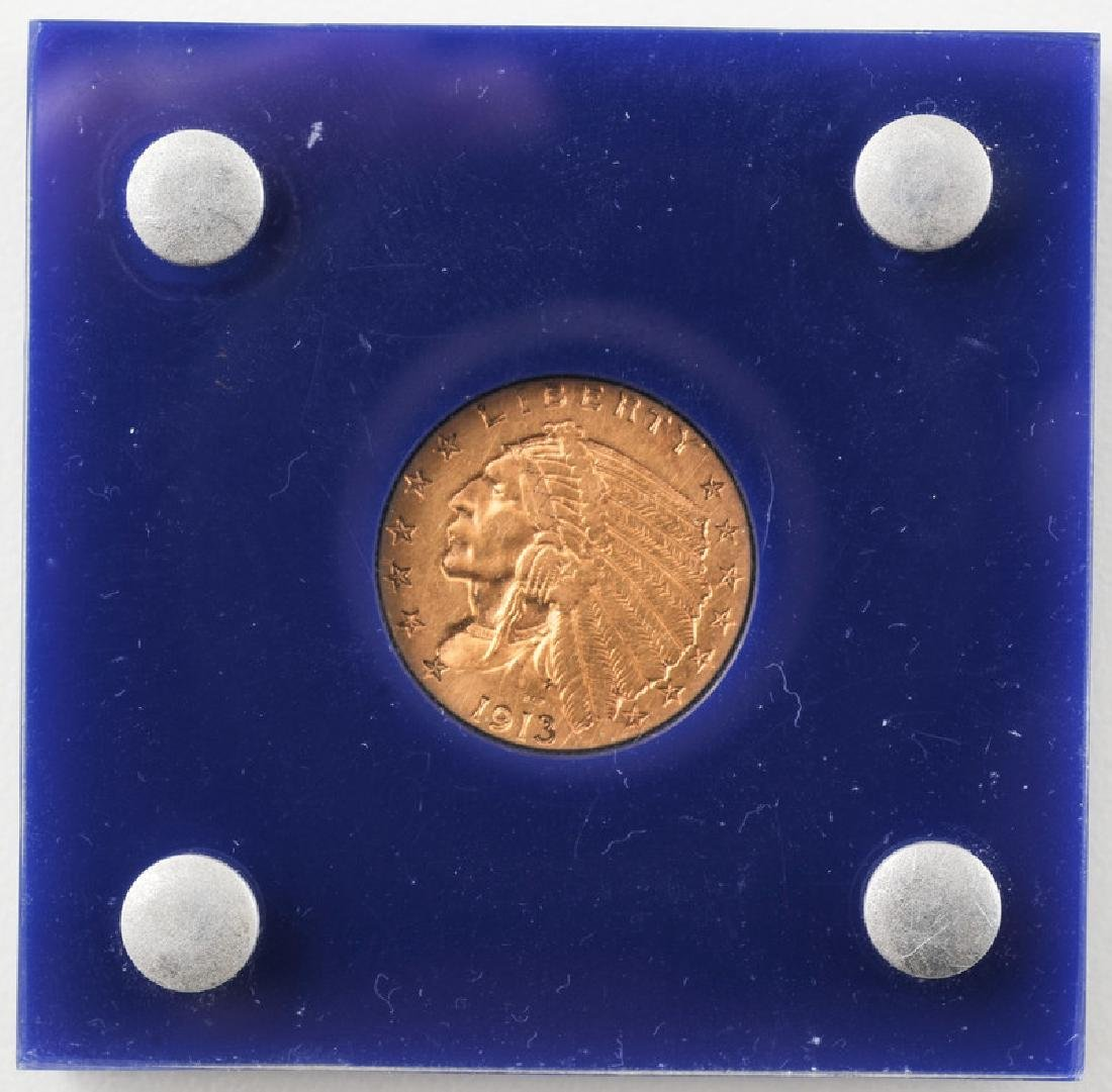United States Indian Head 2.5 Dollar Gold Coin