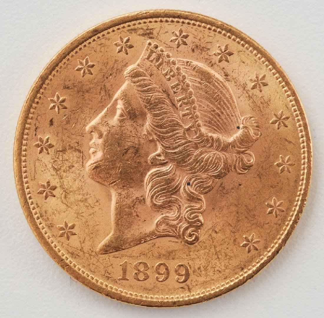 United States 1899 Liberty Head Double Eagle Twenty