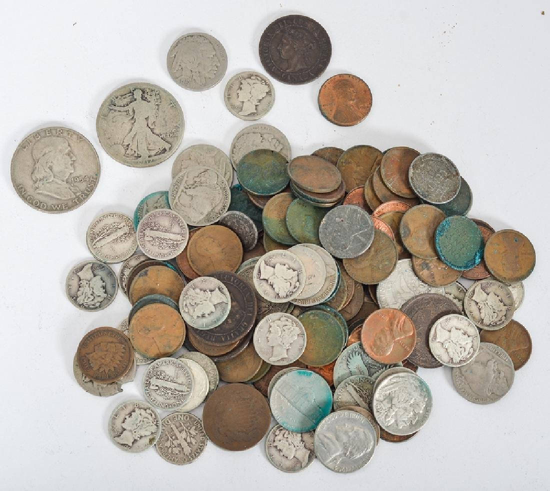 Group of United States and Canadian Coins