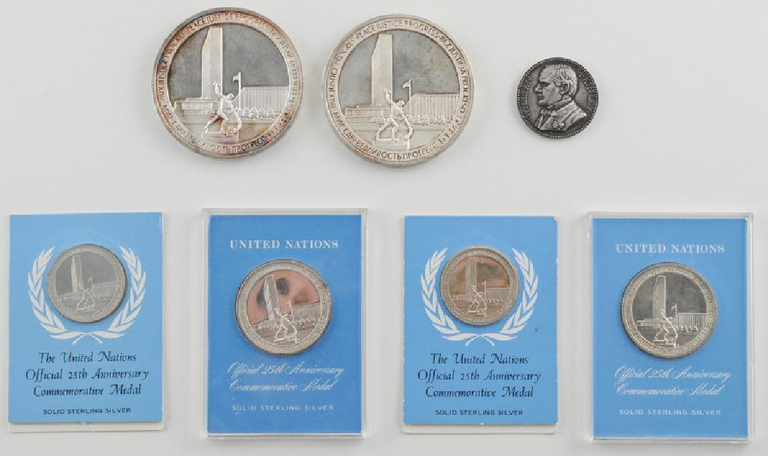 United Nations 25th Anniversary Sterling Silver