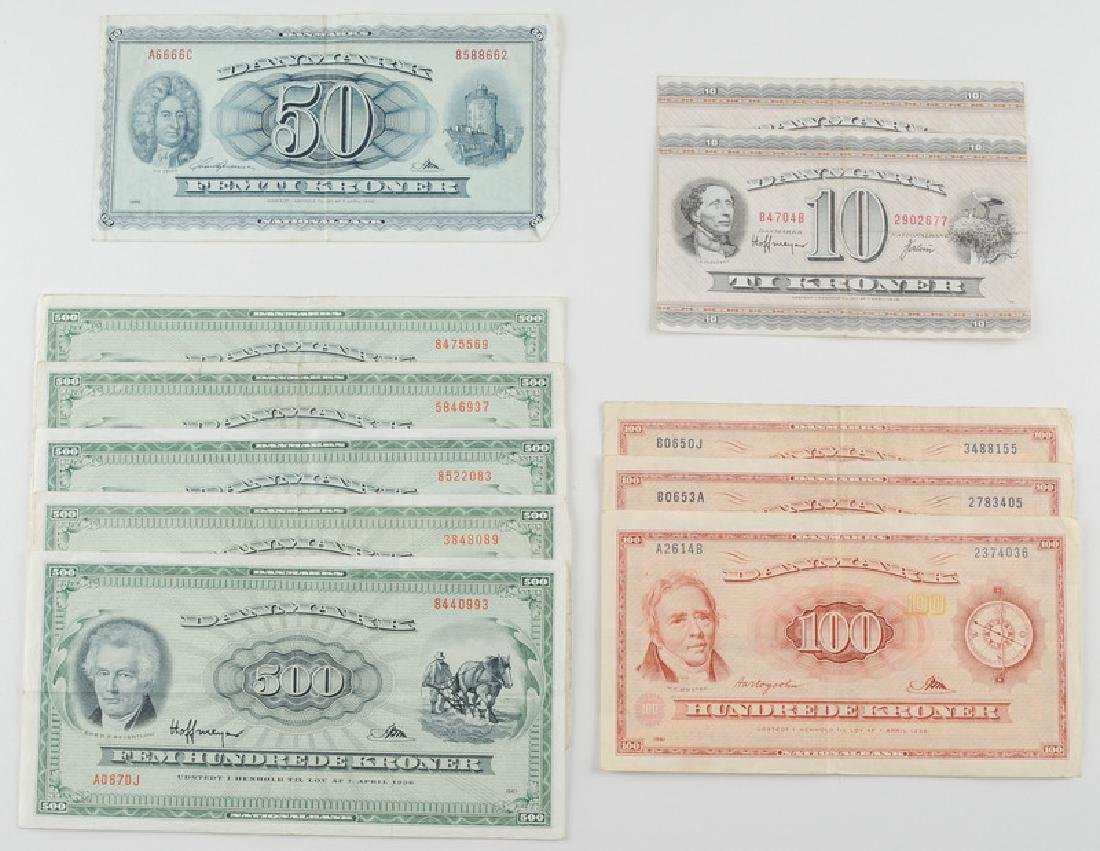Denmark Paper Currency, Assorted