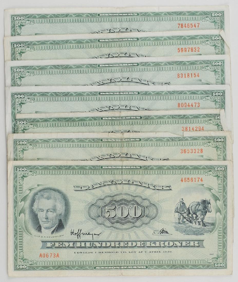 Denmark Currency, 500 Krones
