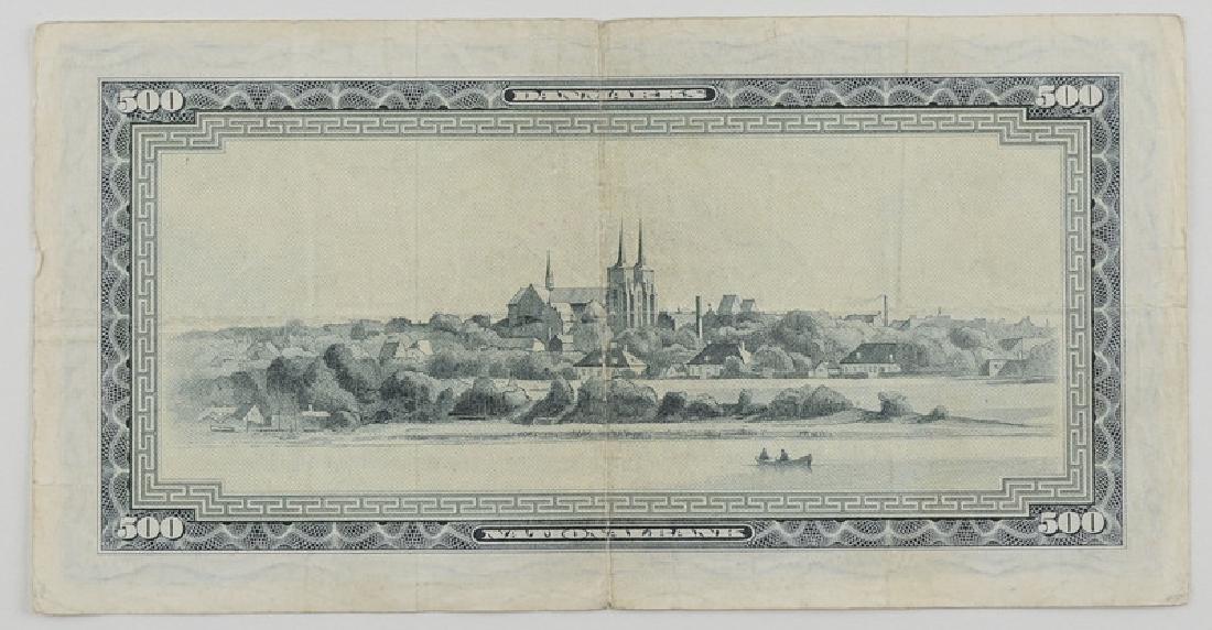 Denmark Currency, 500 Krones - 2