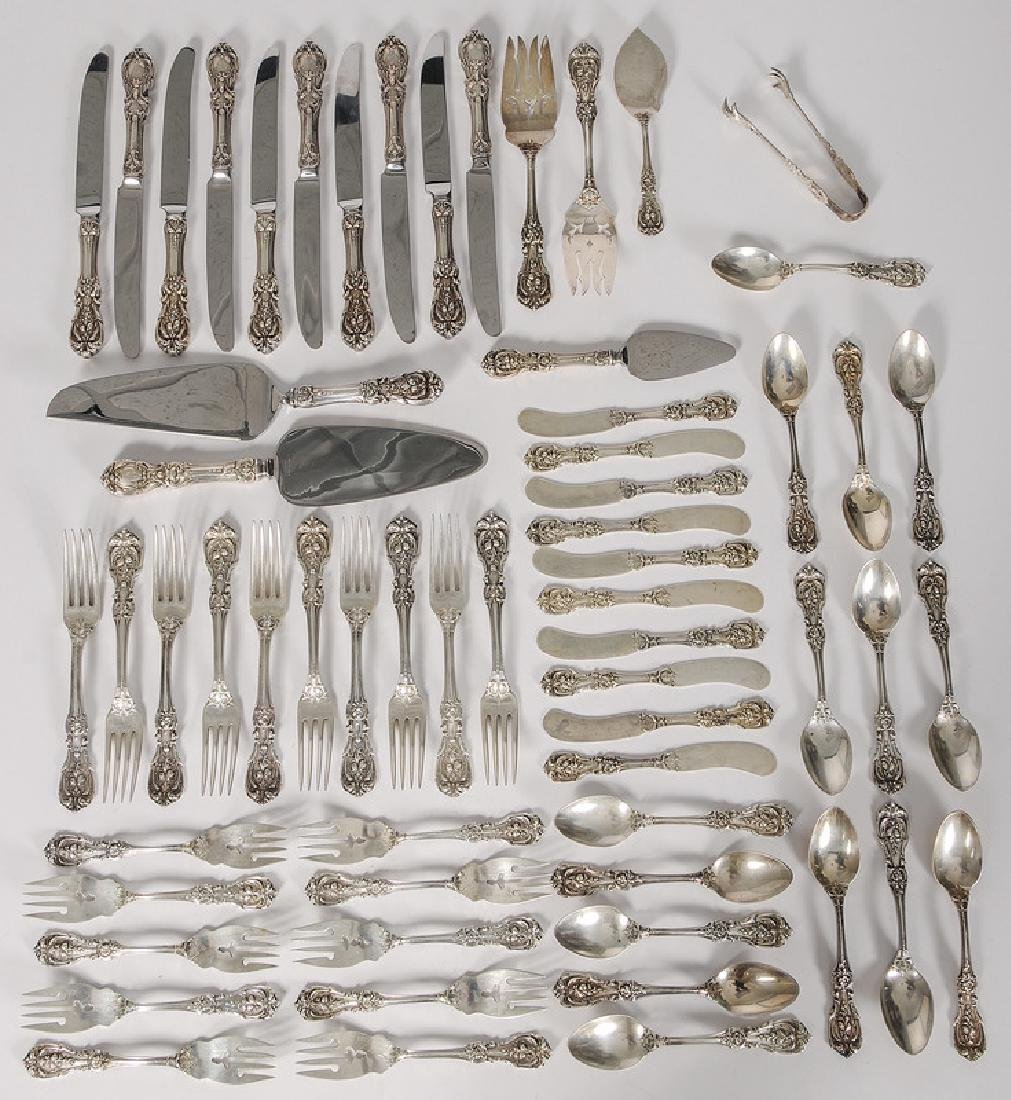 Reed & Barton Partial Sterling Flatware Service,