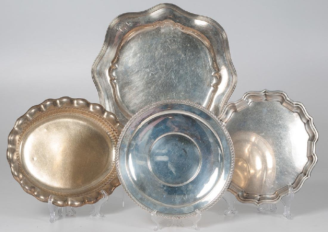 Sterling Serving Trays Including Gorham, Whiting and