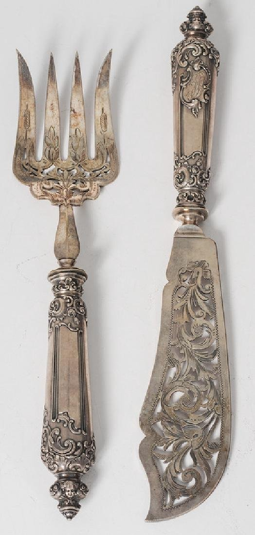 French Silver Serving Set