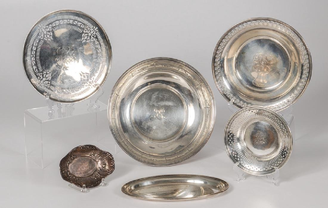 American Sterling Center Bowls and Gorham Trays
