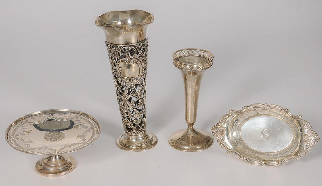 Gorham Sterling Vases, Compote and Bowl