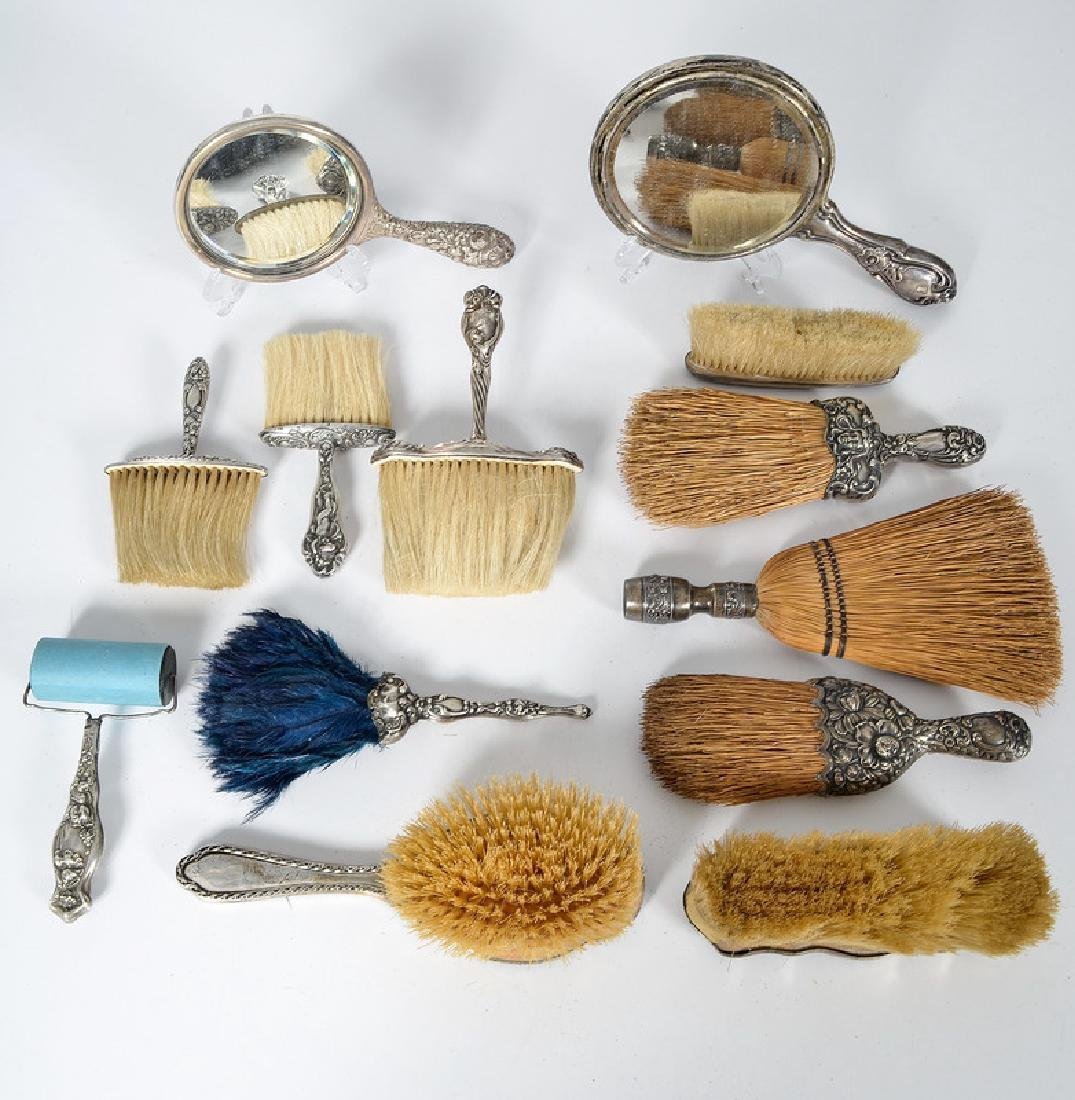 Sterling Brushes and Mirrors, Including Gorham and