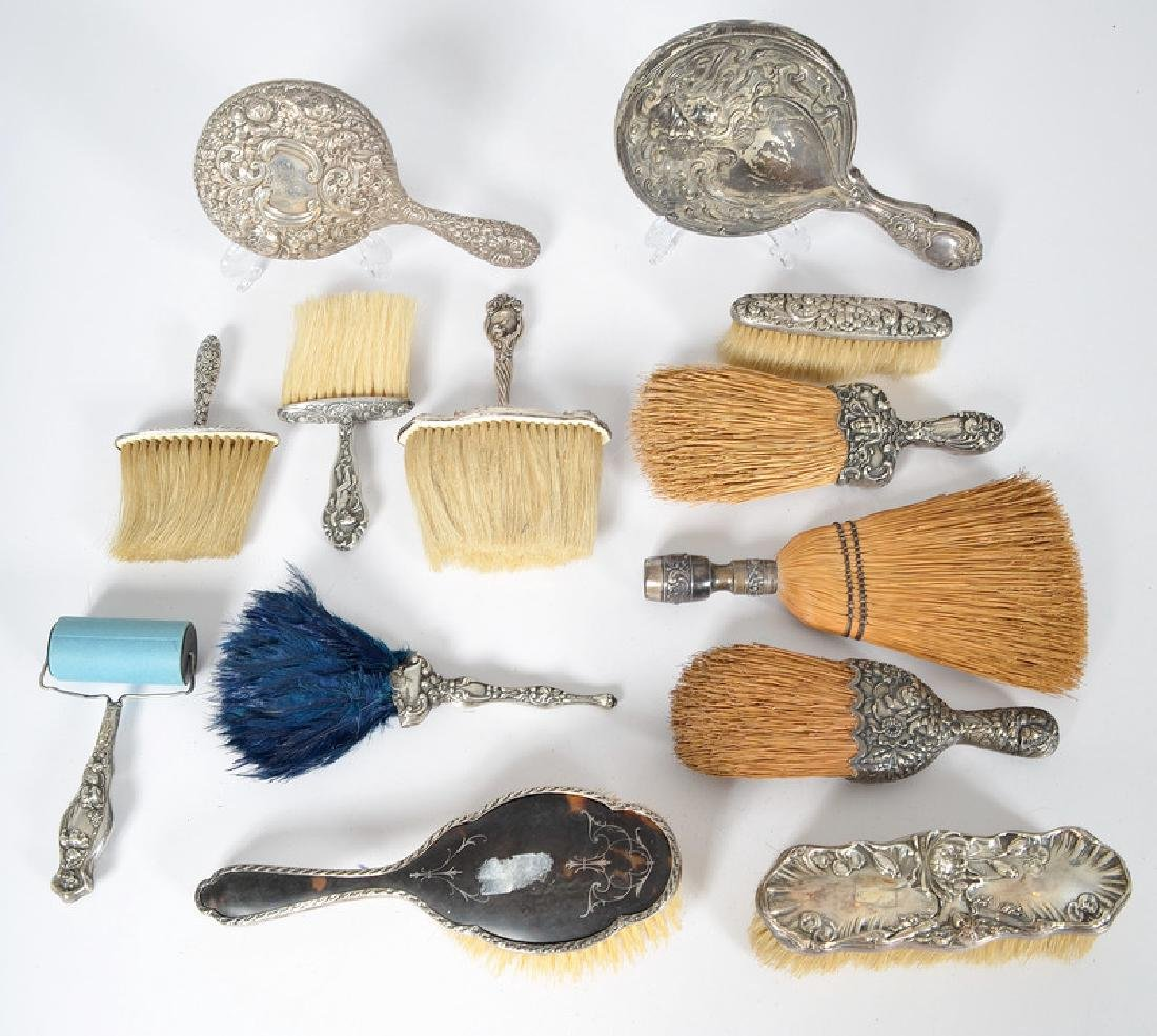 Sterling Brushes and Mirrors, Including Gorham and - 2