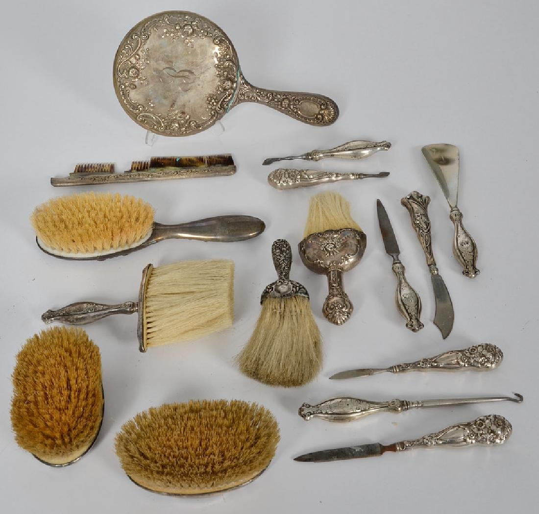 Assorted Sterling Dresser, Desk and Sewing Accessories,