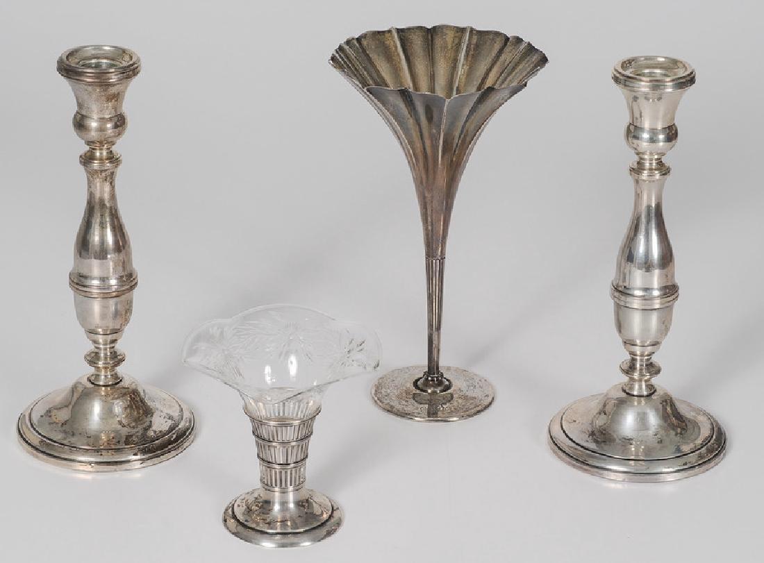 Tiffany Sterling Trumpet Vase, Plus