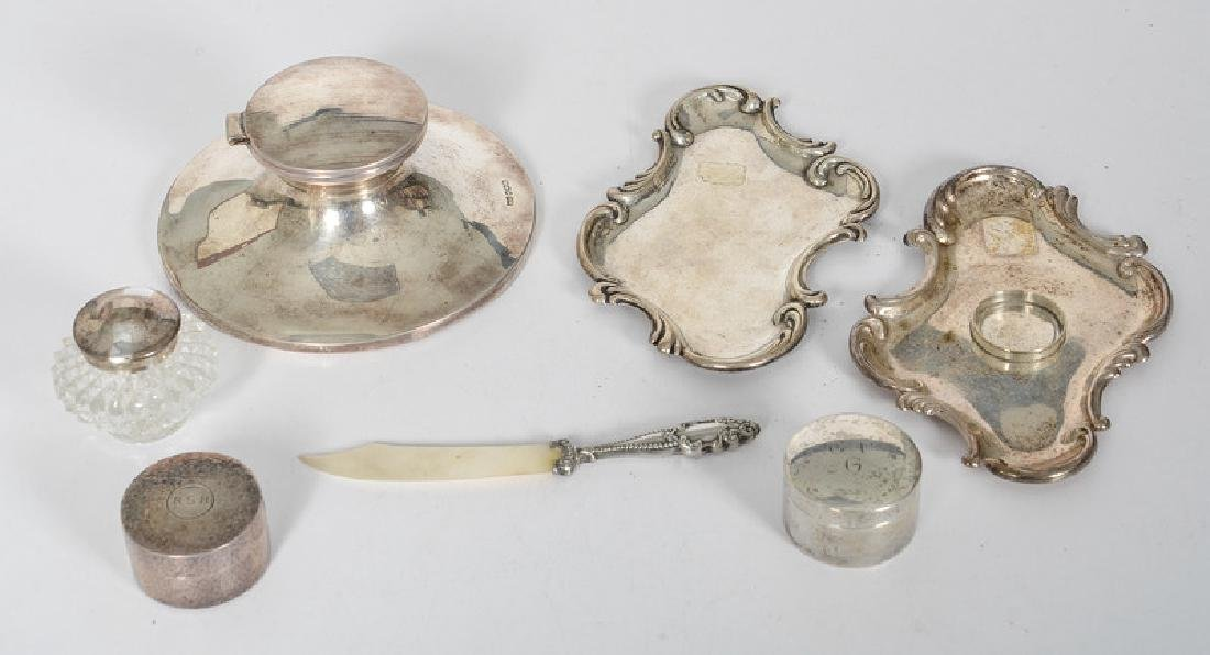 Sterling Desk Accessories, Including Tiffany and Walker