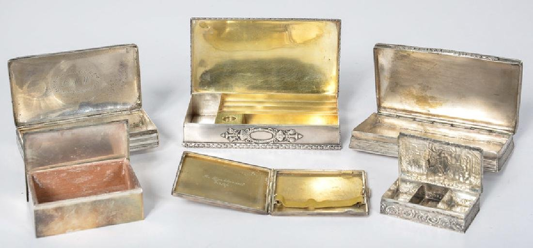 Sterling, .900 Silver and Silver Boxes - 2