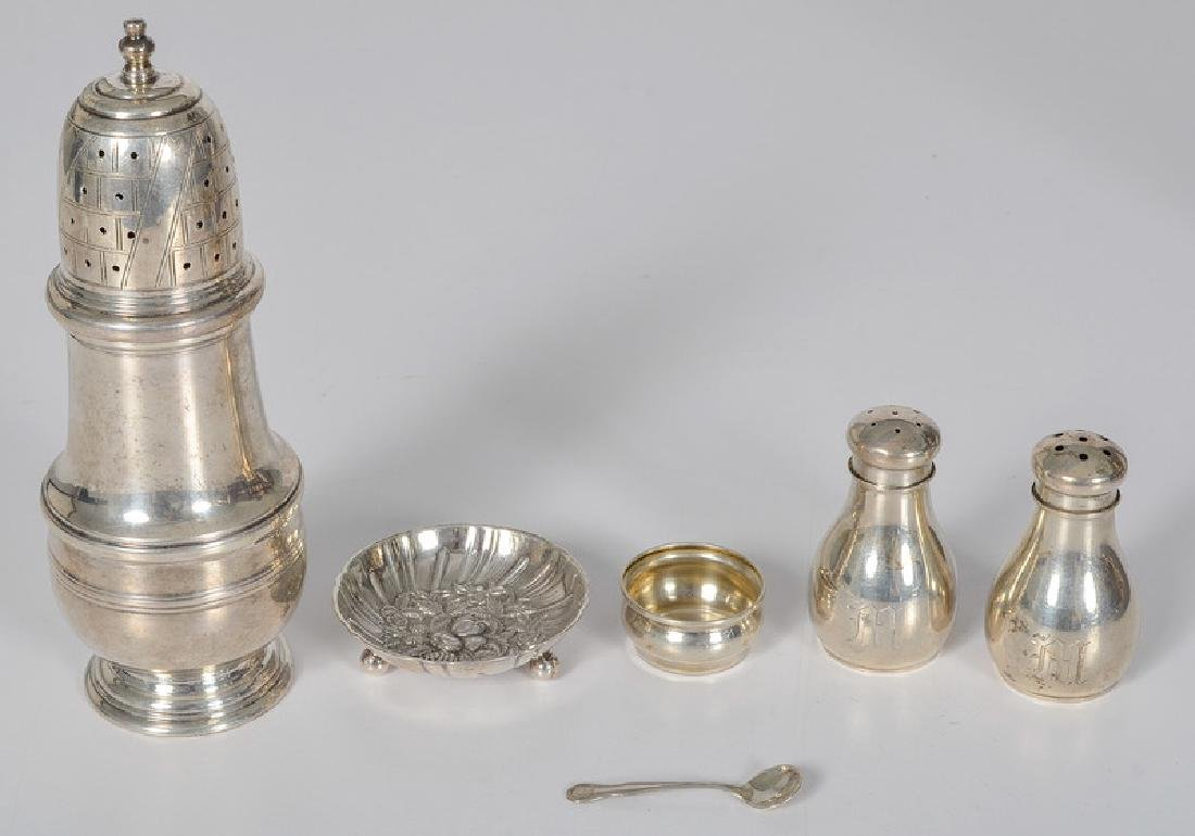 Sterling Salts, Shakers, and Muffineer
