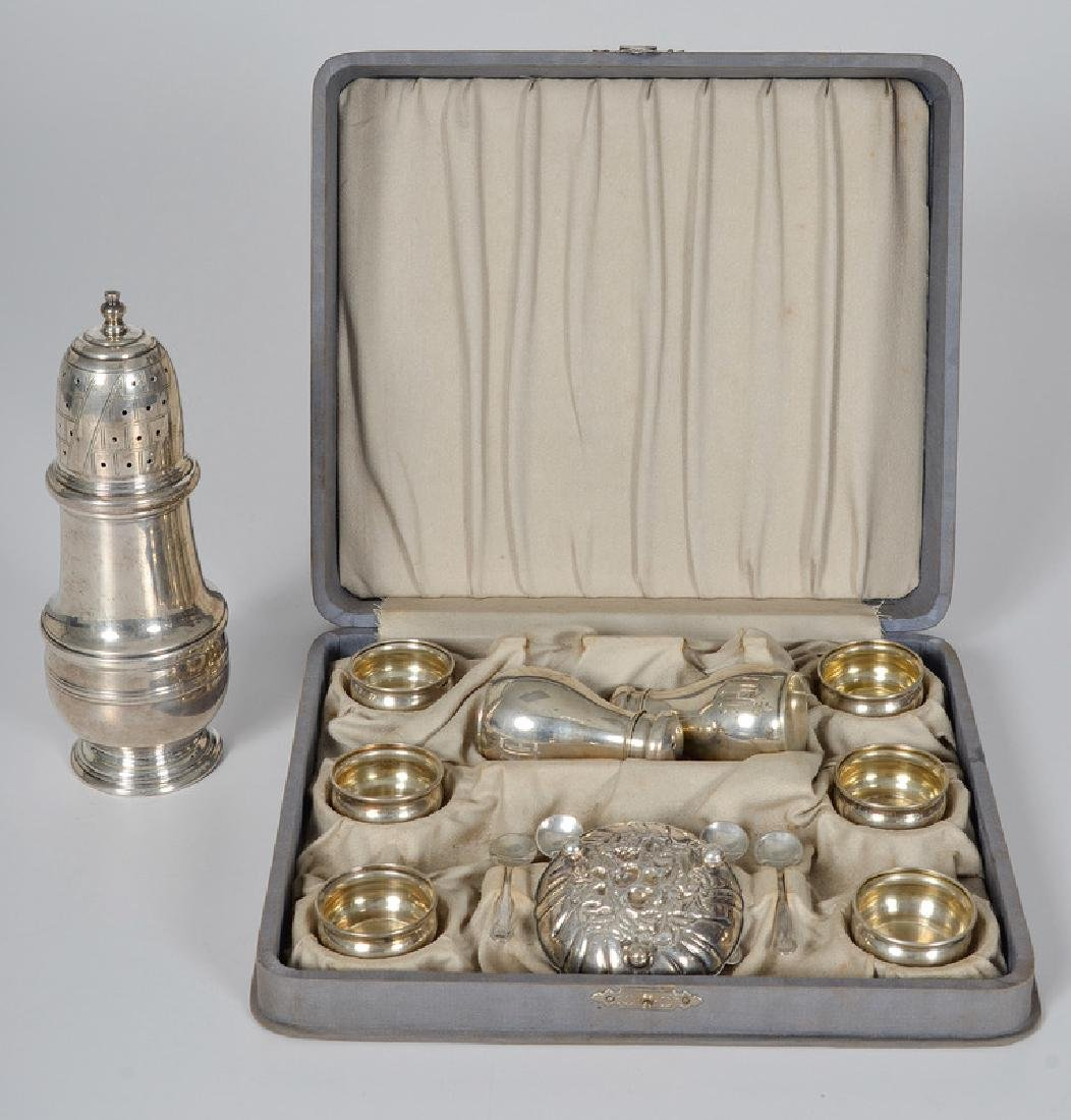 Sterling Salts, Shakers, and Muffineer - 2