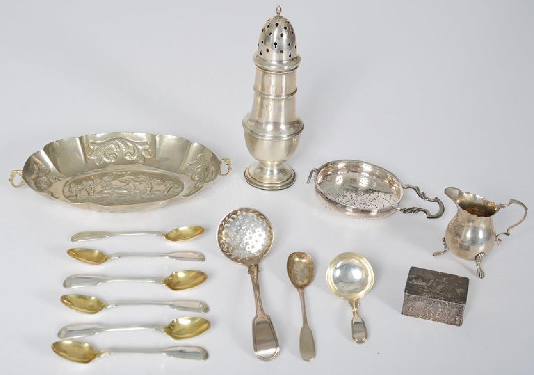English Sterling Table and Personal Accessories