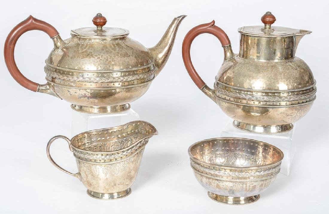 Birmingham Sterling Tea Set by Liberty & Co.