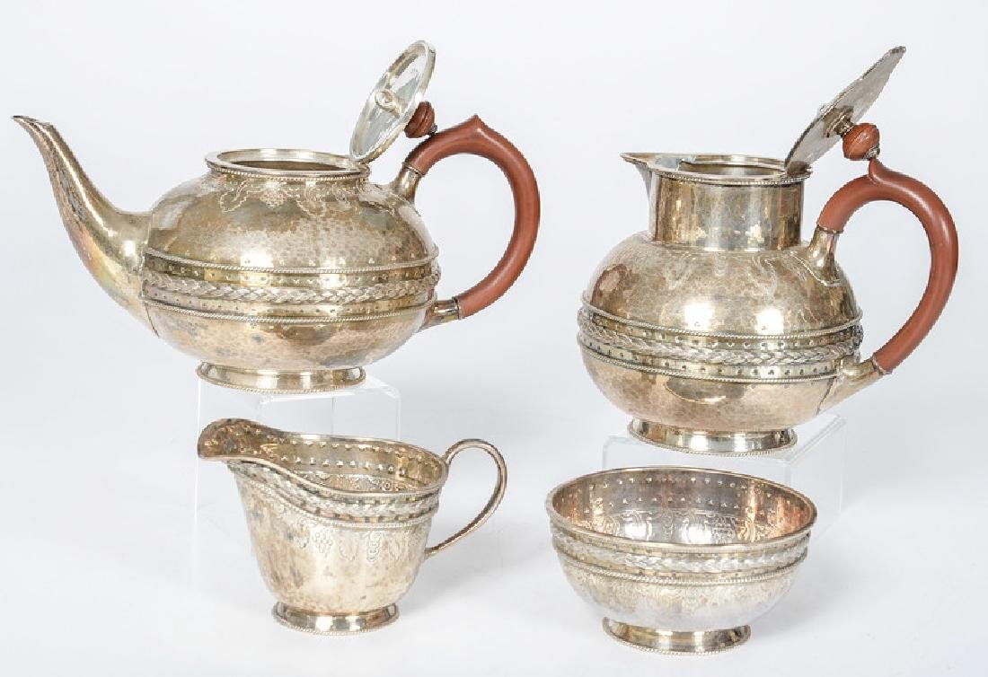 Birmingham Sterling Tea Set by Liberty & Co. - 2