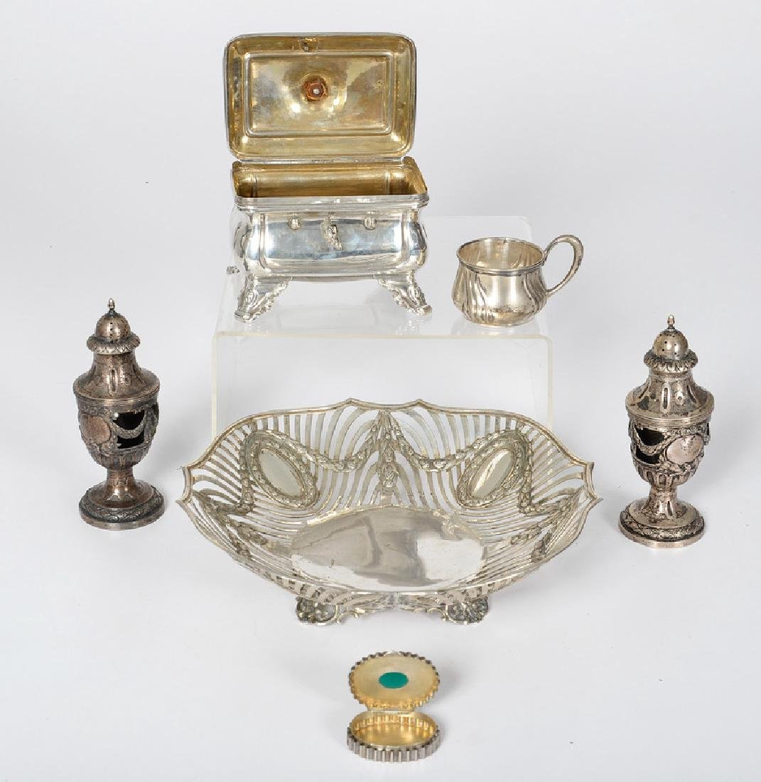 Continental .800 Silver Accessories and Hanau Bowl, Plu - 2