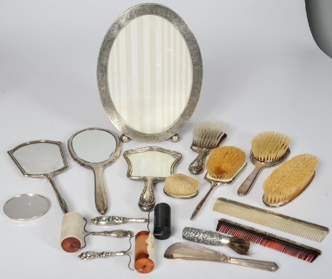 Sterling-Mounted Accessories, Including Gorham