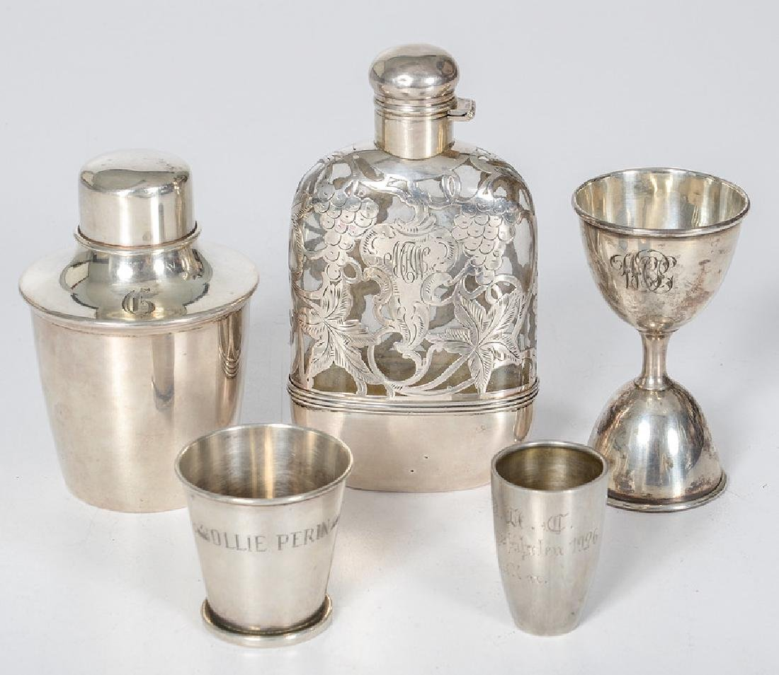 American and English Sterling and Silver Drinking