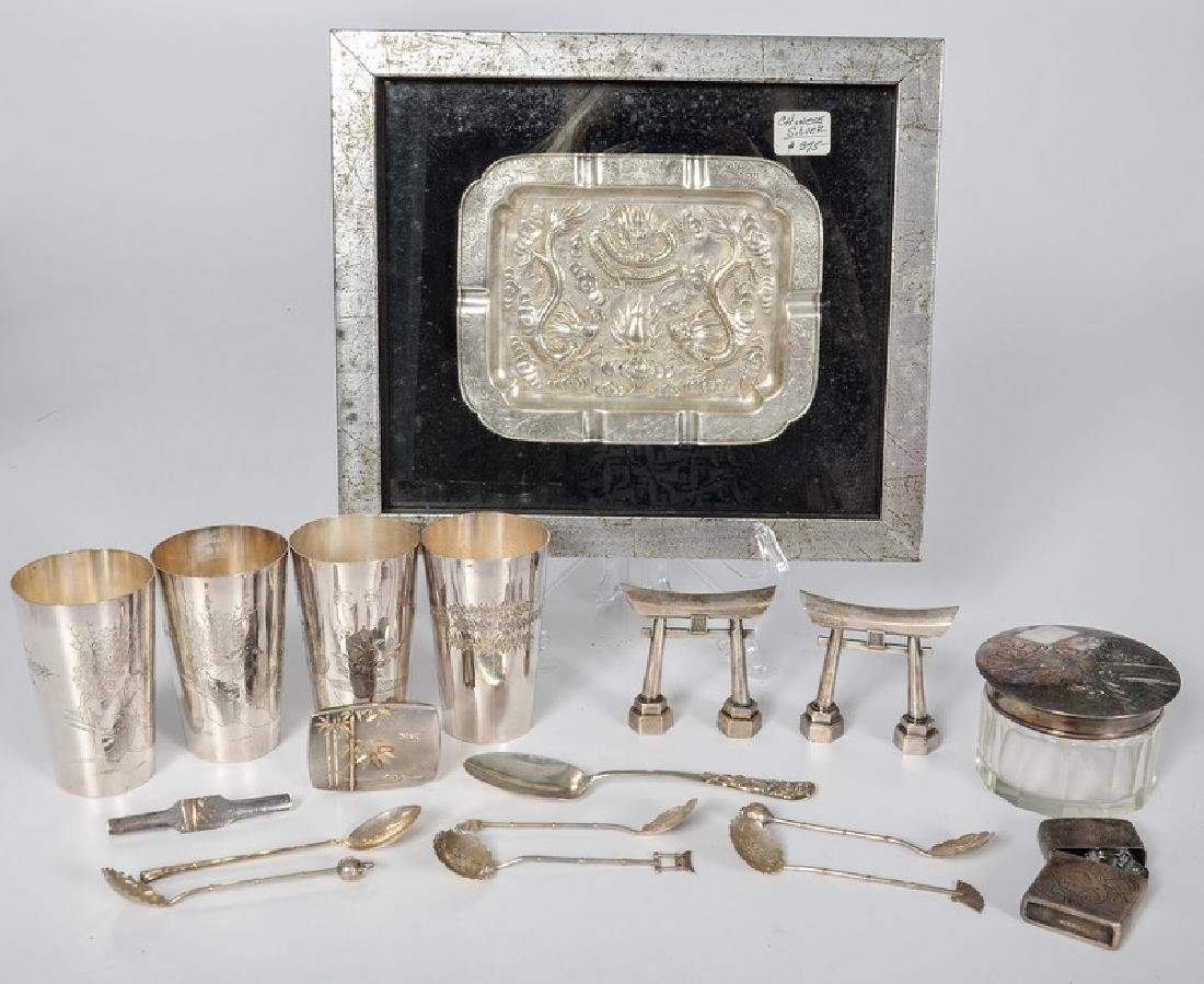 Japanese and Chinese .950 Silver Accessories