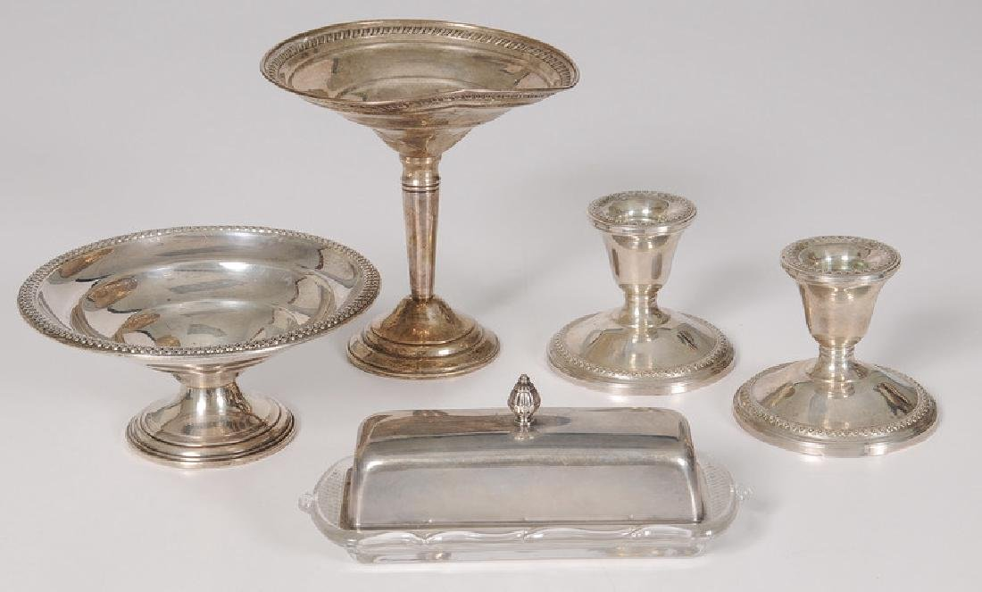 Fisher Sterling Butter Dish & Other Sterling Items