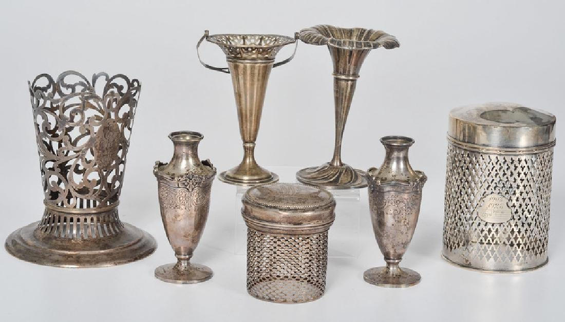 Sterling Vases and Jars