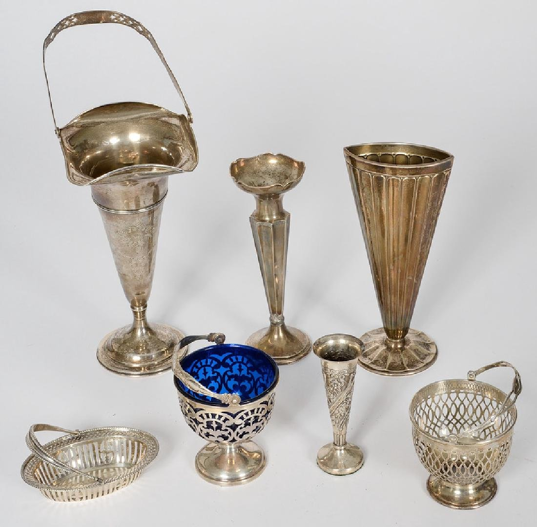 Sterling Baskets and Weighted Vases