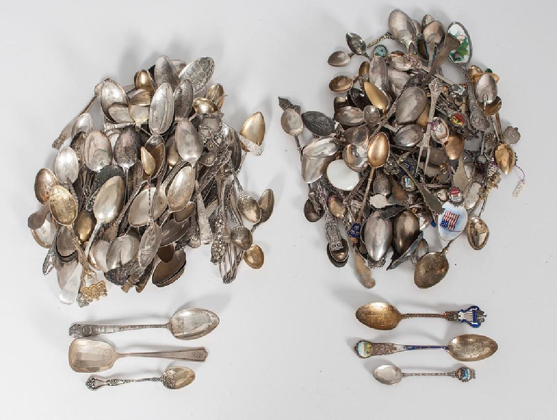 Sterling and Silver Souvenir Spoons and Forks