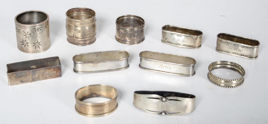 American and English Sterling and Silver Napkin Rings