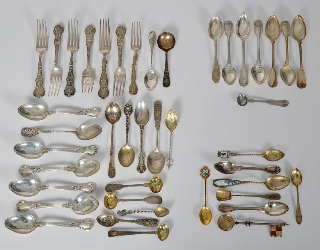 Sterling, Coin, and .800 Silver Souvenir Spoons and